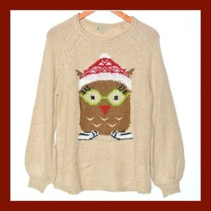 NWT Democracy Owl Oversized Sweater Tan S